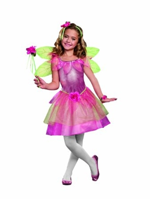 Girl's Pink Flower Fairy Costume