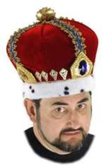 Royal King Crown Hat - Adult