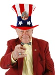 USA Uncle Sam Democrat Adult Hat