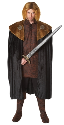 Brown Medieval King Cape