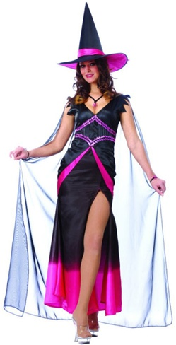 Pink and Black Plus Fabulous Witch Costume