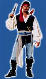 Blue Sea Pirate Costume - Adult