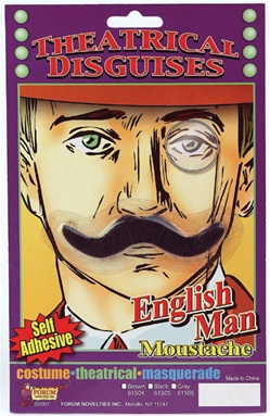 Theatrical English Man Moustache - Black
