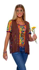 Womens Hippie Adult Vest
