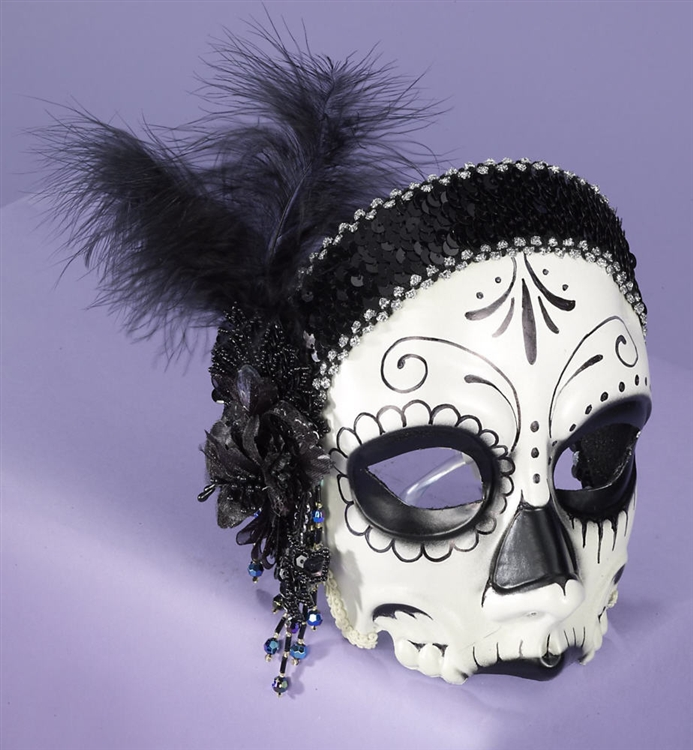 flapper sugar skull mask