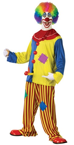Mens Horny The Clown ADULT Costume
