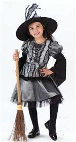 Toddler Goth Rose Witch Girls Costume