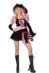Sexy Pink Punk Pirate Adult Costume