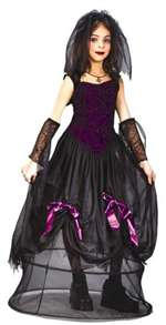 Child Goth Spider Princess Girls Costume