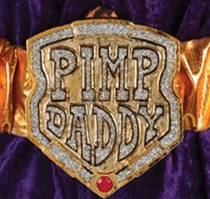 Deluxe Pimp Daddy Costume Belt - Accessory