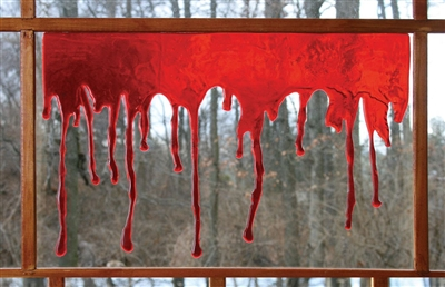 3D Dripping Blood Halloween Decoration
