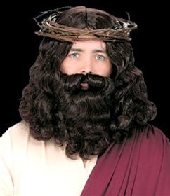 Adult Sized Jesus Wig and Beard
