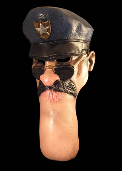 Funny Chin - Police Halloween Mask