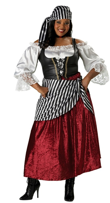 Deluxe Plus Size Pirate Wench Costume
