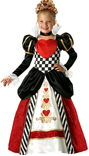 girls deluxe queen of hearts costume