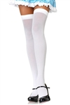 White Thigh High Stockings for Sexy Costumes