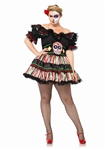 Plus Size Day of the Dead Doll Costume - Dia de los Muertos