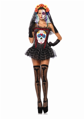 Day of the Dead Sugar Skull Corset
