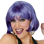 Purple Short Bob Adult Wig