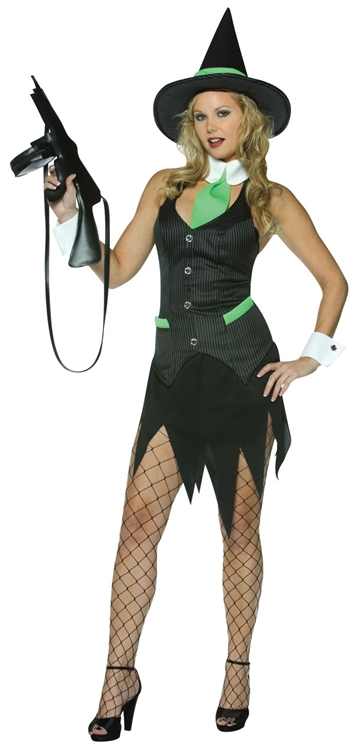 sc 1 st  SpookShop & Adult Sexy Gangster Witch Costume