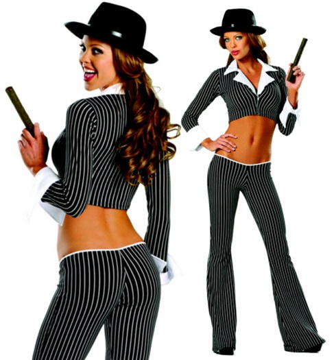 Sexy female gangster costume