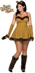 Sexy Plus Size Adult Cowardly Lion Costume