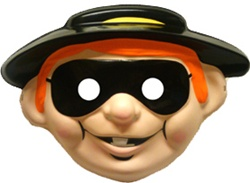 Hamburgler Child Sized PVC Mask