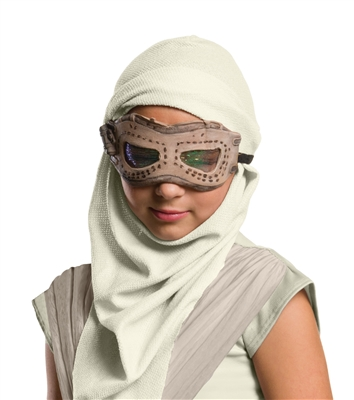 Child Rey Mask with Hood