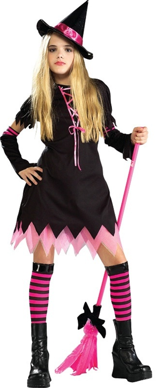 sc 1 st  SpookShop & Tween Girls Black Magic Witch Costume