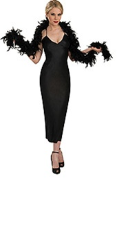 Black Deluxe Turkey Boa Costume Accessory