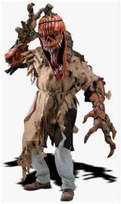 Deluxe Demented Pumpkin Adult Costume