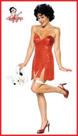 Sexy Betty Boop Adult Red Dress