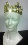 Child Sized Gold Plastic Crown