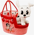 Betty Boop Pudgy Dog Handbag Salt and Pepper Set - Accessory