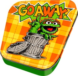 Officially Licensed Oscar The Grouch Round Tin Box