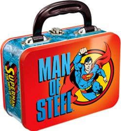 Superman Rectangular Tin Tote - Accessory