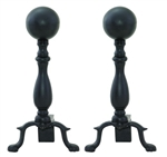 UniFlame A-1234 Black Wrought Iron Ball Andirons