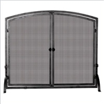 UniFlame S-1142 Single Panel Olde World Iron Screen With Doors - Large