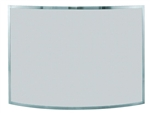 UniFlame S-1613 Single Panel Curved Pewter Finish Screen