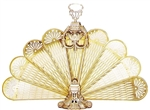 UniFlame S-2091 Polished Brass Ornate Fan Screen