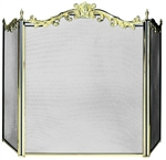 UniFlame S-9668 3 Fold Cast Solid Brass Screen