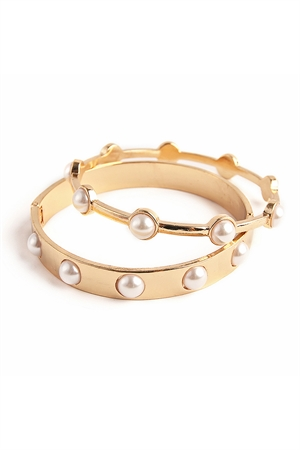S4-6-2-A0017G GOLD WITH PEARL BRACELET/12PCS