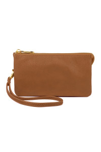 S24-4-1-005CM- LEATHER WALLET WITH DETACHABLE WRISTLET  - CAMEL/3PCS