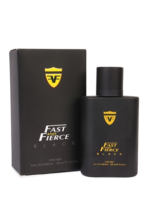 S9-17-3-0326Q - FAST & FIERCE BLACK PERFUME FOR MEN /3PCS