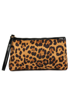 S23-6-3-A10328BR BROWN LEOPARD PATTERN COSMETIC BAG/6PCS