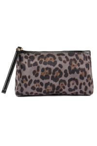 SA4-2-1-A10328GY GRAY LEOPARD PATTERN COSMETIC BAG/6PCS