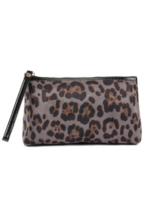 S3-8-4-A10328GY GRAY LEOPARD PATTERN COSMETIC BAG/6PCS