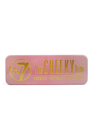 S4-6-3-A141122 THE CHEEKY TRIO TIN- BRONZER, BLUSHER & HIGHLIGHTER/6PCS