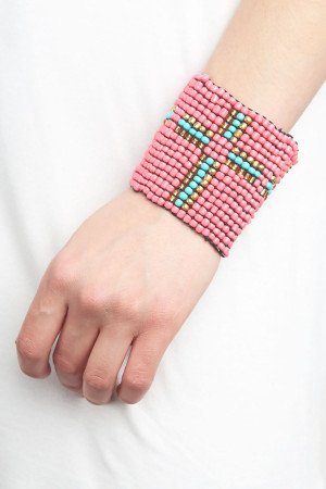 SA4-1-4-A15587RD RED WITH TURQUOISE BRACELET/6PCS