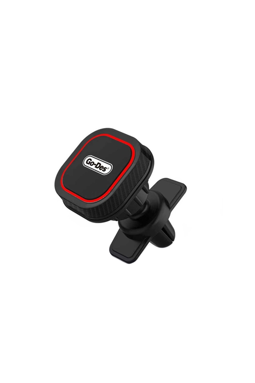 S1-3-3-158805 - GO-DES AIR OUTLET MAGNETIC CAR PHONE HOLDER/MOUNT (HD667) RETAIL RED /6PCS